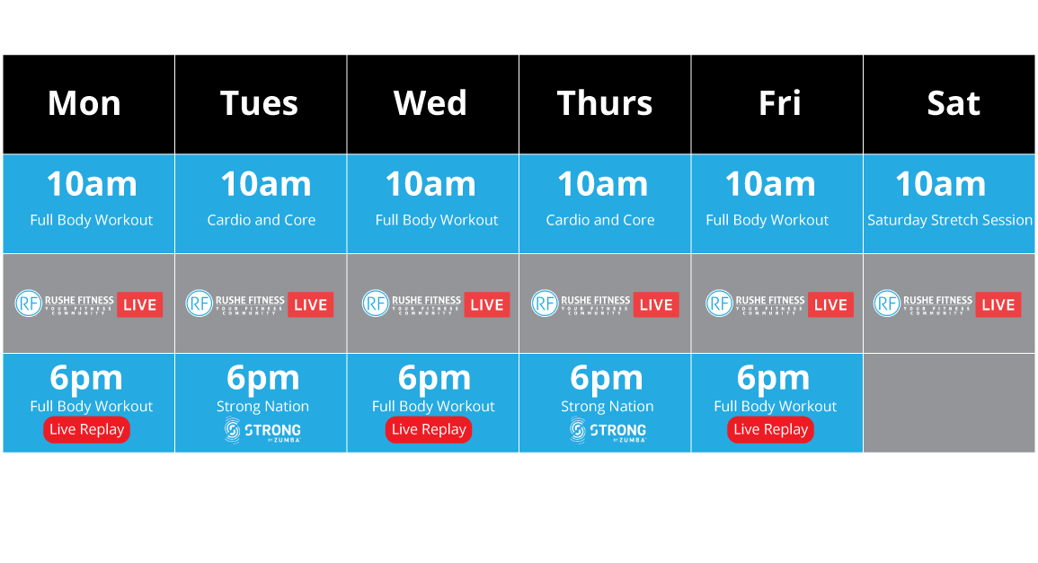 rushe-fitness-timetable-live